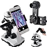 Microscope Lens Adapter, Microscope Smartphone Camera Adaptor - for Microscope Eyepiece Tube 23.2mm, Built-in WF 16mm Eyepiece - Capture and Record The Beauty in The Micro World