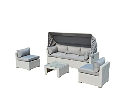 Superb Outdoor Patio Furniture Backyard Sofa Modern All Weather Wicker Sectional 4Pc Rattan Resin Couch Set Squirreltailoven Fun Painted Chair Ideas Images Squirreltailovenorg