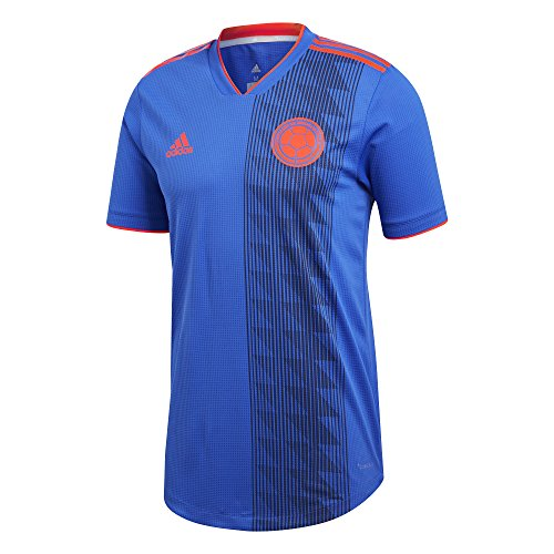 adidas Men's 2018 Colombia Authentic Away Jersey (Large) Adidas Contrast Collar Jersey