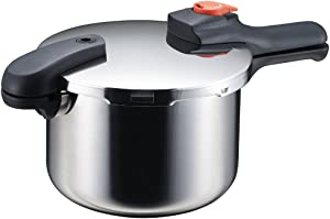 Pearl Metal Pressure Cooker IH 5.5L Stainless with Recipe H-5437 from Japan