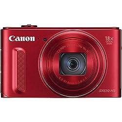 Canon SX610 HS PowerShot Fotocamera Compatta Digitale, 20 MP, Rosso