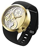 odm DD137 Swing Collection Peace Logo Watch Black with Goldtone DD137-02