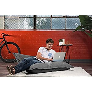Big Joe Lux Original Bean Bag Chair, Union, Gray