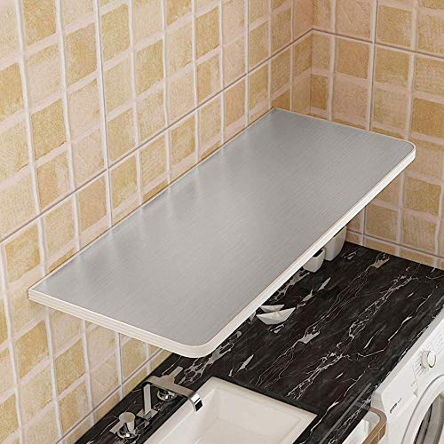 AOLI 2 soportes plegables, flotante pared Tabla, Diseno plegable, para mesas, escritorios, mesas de comedor, de acero inoxidable sobre la mesa, 60Cmx30Cm,70cm * 30cm