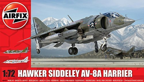 Airfix A04057 Hawker Siddeley Harrier AV-8A Plastic Model Kit (1:72nd Scale) by Airfix ()