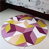 WAN SAN QIAN- Round Carpet Nordic Office Carpet Basket Swivel Chair Carpet Mats Children Bedroom Carpet Home Economy Rug Rug ( Color : B , Size : 160x160cm )