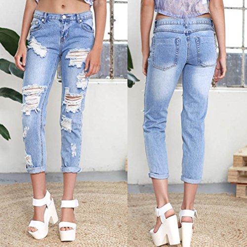 amp;bianco Pantaloni Lampo Scelta Allungare Stile Azzurro Zhhlaixing Jeans Moda Attrezzato Multipla Da Magro Cerniera Sottile Denim Donna Comodo Tp8cwPq