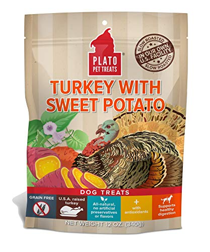 Plato Dog Treats - Turkey With Sweet Potato- 12 Oz