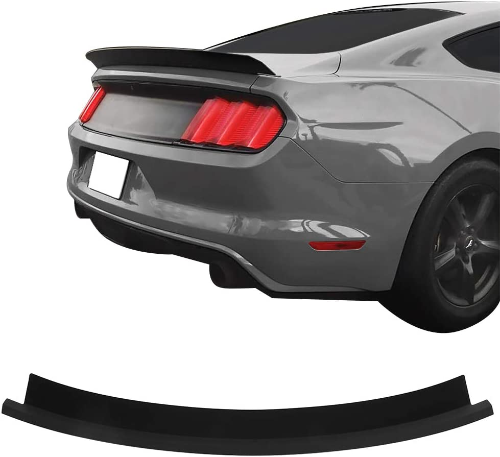 Matte Black ABS Rear Tail Wing Boot Lid IKON MOTORSPORTS Trunk Spoiler Compatible With 2015-2020 Ford Mustang 2-Door Coupe Convertible