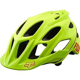 Fox Racing Flux Helmet Optik Flo Yellow, L/XL