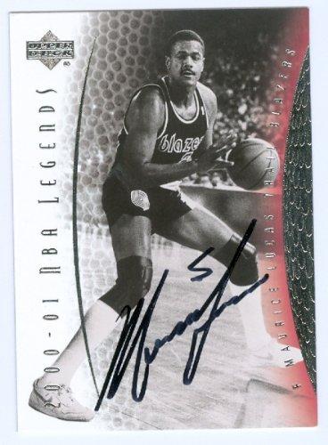 Lucas Autographed Basketball (Autograph Warehouse 43861 Maurice Lucas Autographed Basketball Card Portland Trail Blazers 2001 Upper Deck Nba Legends No .34)