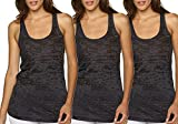 Epic MMA Gear Yoga Tank Top – Burnout Racerback Pack of 3 (X-Small, Black)