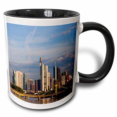 3D Rose mug_227350_4 City Skyline Frankfurt Am Main Hessen Germany Two Tone Ceramic, ()