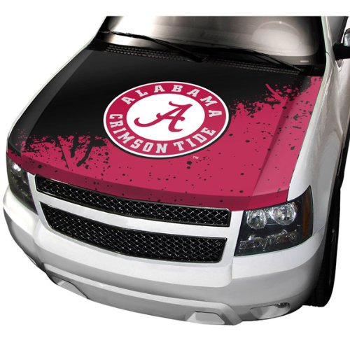 NCAA Alabama Auto Hood Cover, One Size, One Color