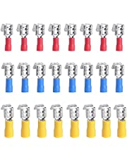 Ruidee 150PCS 22-16 16-14 12-10 AWG Insulated Piggyback Spade Connectors Quick Disconnect Electrical Terminals Wire Crimp Connectors Kit Red,Blue,Yellow (APJZ)