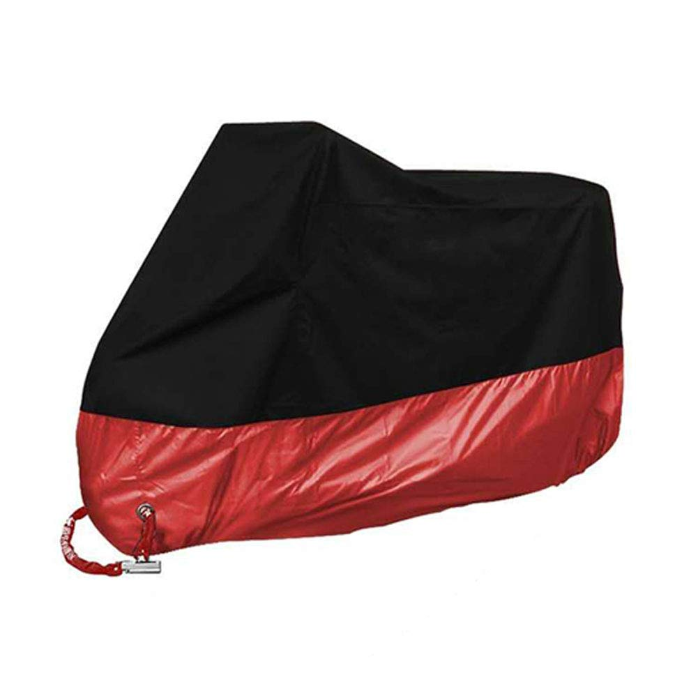 Angker Motorcycle Cover, Waterproof Motorbike Dust Rain Cover for 2 Bikes/Premium Motorbike Cover, 190T Nylon, Anti Dust Rain UV Rotection with Lock-Holes Storage Bag (Black)