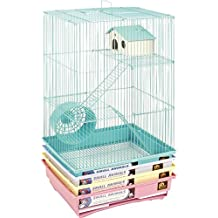 Prevue Pet Products SPV2030C 4-Pack Hamster 3-Story Pastel Cage, Colors Vary