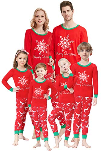 Matching Family Pajamas Christmas Boys and Girls Pyjamas 2 Piece PJs for Women M (Personalized Kids Christmas Pajamas)