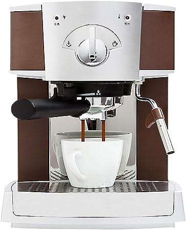 Barista Profesional Cafetera Espresso Cafe Semiautomática Comercial Cafetera con vapores de Espuma de Leche 15 Bar Presión de extracción 1.6l Tanque de Agua Máquinas de café con Leche: Amazon.es: Hogar
