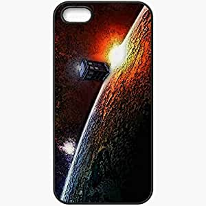 Personalized iPhone 5 5S Cell phone Case/Cover Skin Impressions Of The TARDIS Black
