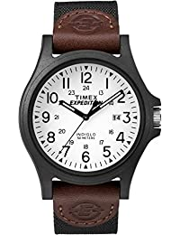 Timex Men's TW4B08200GP Sport Expedition White Dial with Brown Nylon Strap