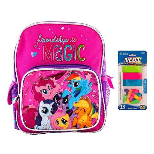 Little Pony Backpack My Little Pony and Friendship is Magic Book Game Fun Includes Erasers (Small 10