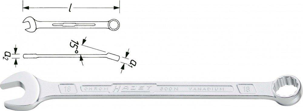 HAZET 600N-10 Ring Maulschlü ssel