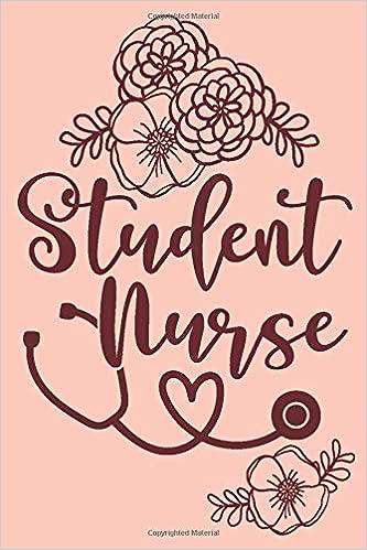 Student Nurse Cute Floral Nursing School Student Notebook Journal Design Co Cardien 9781076370846 Amazon Com Books
