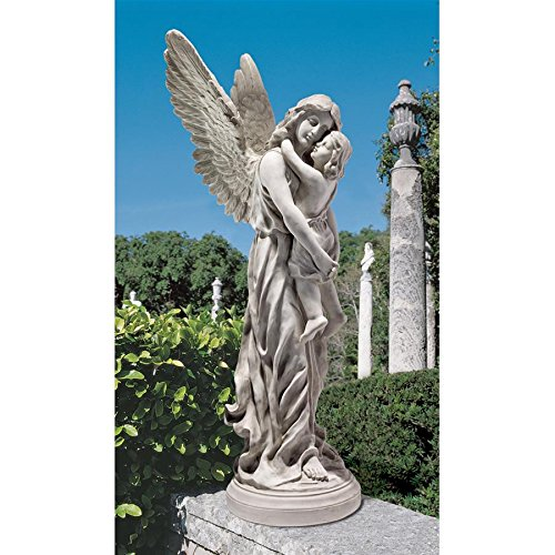 Design Toscano Heaven's Guardian Angel Garden Statue, Antique Stone Review