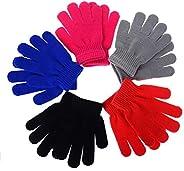 Mulfei Kid's Winter Warm Magic Gloves - Children Stretchy Warm Knit Glo