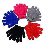 Mulfei Kid's Winter Warm Magic Gloves - Children Stretchy Warm Knit Glovers