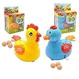 1x CLOCKWORK Wind Up Animal Hen/Duck Lay Eggs Kids Toy Party Loot Bag Filler