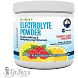 Dr. Berg's Electrolyte Powder, High Energy, Replenish & Rejuvenate Your Cells, 45 Servings, NO Maltodextrin or Sugar, Amazing Raspberry Lemon Flavor (Solo Pack)