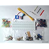ELECTRONIC COMPONENTS PROJECT KIT / BREADBOARD,CAPACITOR,RESISTOR,LED,SWITCH