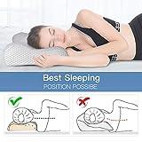 Memory Foam Neck Pillow for Sleeping, Mkicesky Side