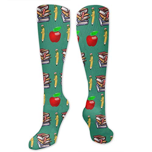 Classics Teachers Pet Apple Men & Women Knee High Socks Soft Boot Socks Cosplay Socks For Party Halloween -