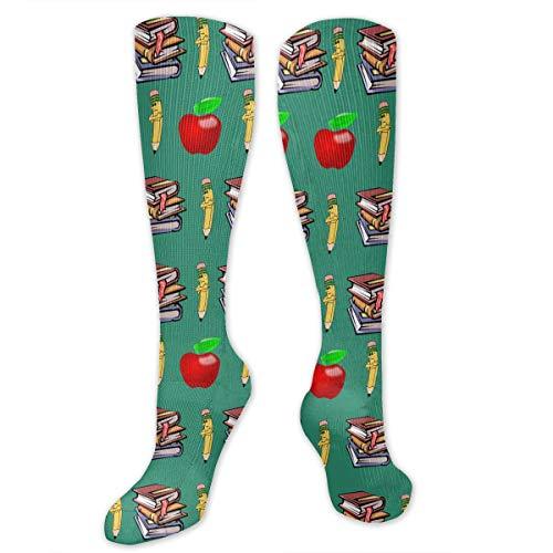 Classics Teachers Pet Apple Men & Women Knee High Socks Soft Boot Socks Cosplay Socks For Party Halloween School