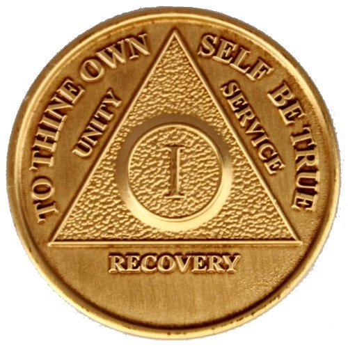SET OF 5 MELT AA Recovery Medallions YEARS 1, 2, 3, 4, 5 All 5 Anniversary / Birthday Coins ()