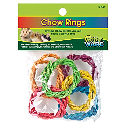 Ware Carnival Crops Chew Rings Small Animal Toys, Pack of 6 Toys, Large