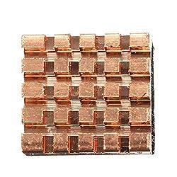 Nrthtri smt 3 Pcs Pure Copper Heat Sink Cooling Fin Fit for Raspberry Pi Board
