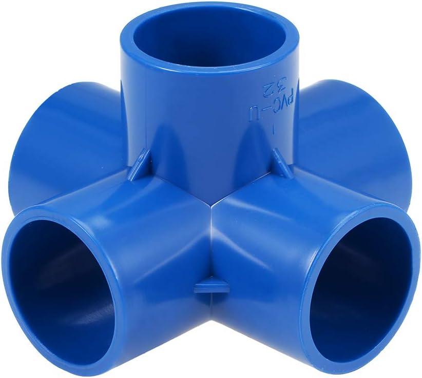 PVC Furniture PVC Elbow Fittings Gray 10Pcs 4 Way 20mm Tee PVC Fitting Elbow