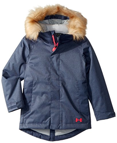 Under Armor Girls' ColdGear Reactor Yonders Parka, Apollo Gray/Penta Pink, Youth Medium by Under Armour