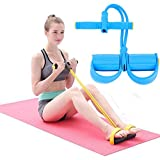 Gymforward Elastic Pull Up Exerciser Resistant Rubber Foot Puch Up Body Building Belly Gut Buster Crossfit Equipment (Blue)