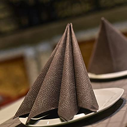 Una toalla de papel desechables Tejido Tejido Pad Square Hotel Restaurant Cuadro telas mate los alimentos