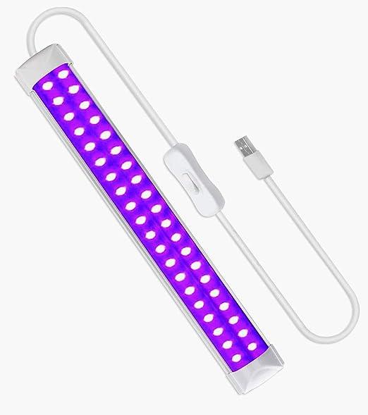 Barra de Luz UV Led, Eleganted 10W Luz Negra USB Lámpara UV, Luz Ultravioleta Para Halloween, Blacklight Fiestas, Etapa, Arte UV, Curado UV, Navidad, ...