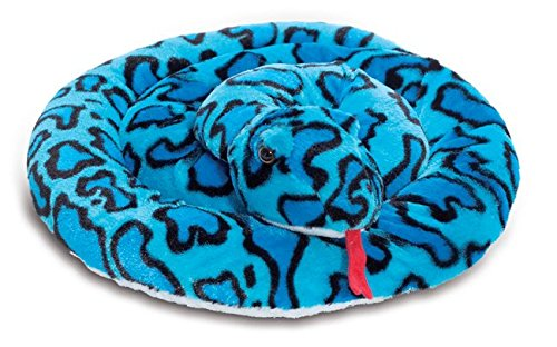 Animal Planet 67 Inch (170cm) Extra Large Plush Blue Snake - Soft Toys - Stuffed (Snake Plush Toy)