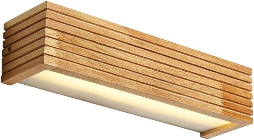 Led Lámpara de Pared de Madera Maciza Escalera Pasillo Baño Espejo Frente Lámpara Dormitorio Lámpara de Noche Muro Lámparas japonesas ZHAOJBDD Hermosa lámpara de Pared: Amazon.es: Hogar