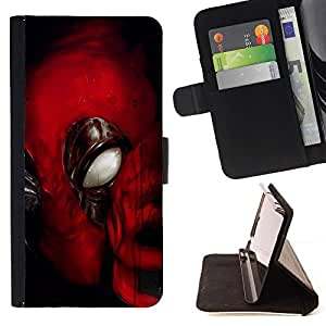 For Sony Xperia m55w Z3 Compact Mini Spider Super Hero Beautiful Print Wallet Leather Case Cover With Credit Card Slots And Stand Function