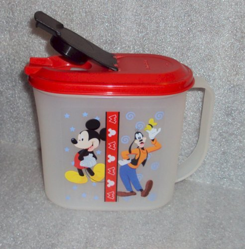 (Tupperware Mickey Mouse & Goofy 1 Qt Slim Line Refrigerator Pitcher)
