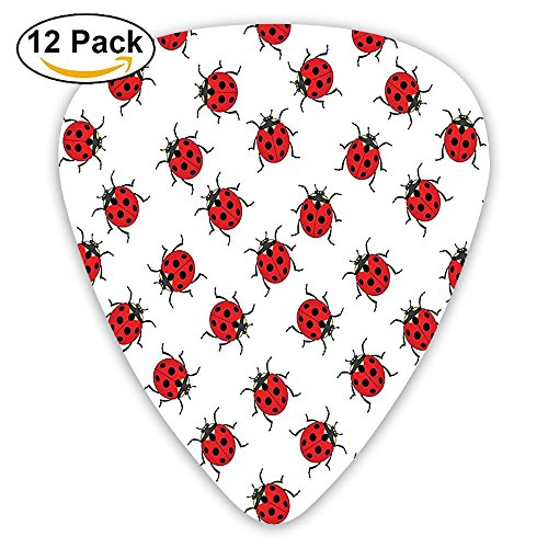 Newfood Ss Ladybugs Pattern Bunch Of Bugs Infinite Speckled Marked Insect Theme Guitar Picks 12/Pack Set ()